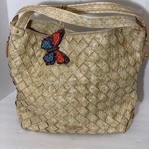 Large Jessica Simpson Woven Shoulder Bag